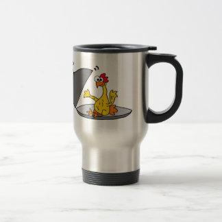 Funny Rubber Chicken Served for Dinner Travel Mug