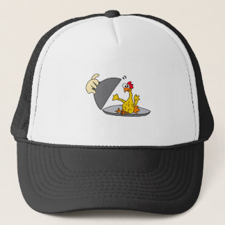 Funny Rubber Chicken Served for Dinner Trucker Hat