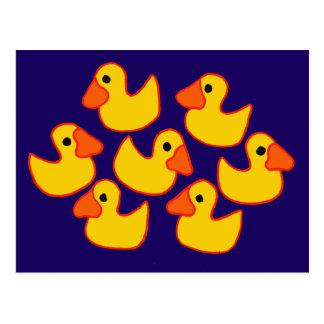 Funny Rubber Ducks Art Postcards