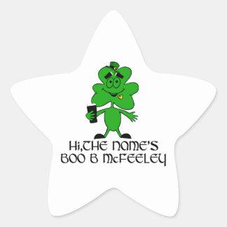 Funny rude Irish name Stickers