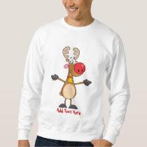 Funny Rudolph Reindeer Xmas Cartoon Personalized Sweatshirt