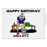 FUNNY RUGBY BIRTHDAY GREETING CARD
