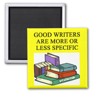 funny rules for writers 2 inch square magnet