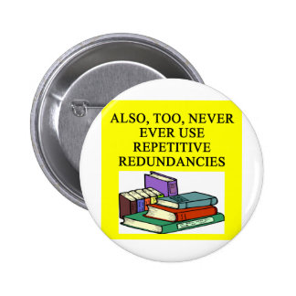 funny rules for writers button