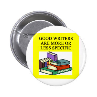 funny rules for writers pinback buttons