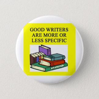 funny rules for writers pinback button