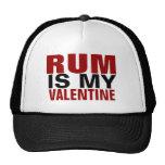 Funny Rum Is My Valentine Anti Valentine's Day Trucker Hat
