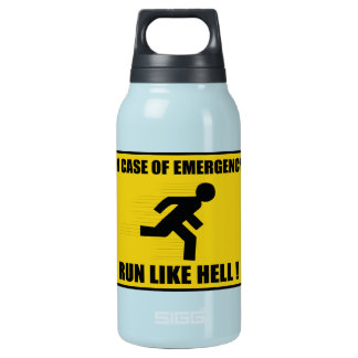 Funny Run Like Hell Insulated Water Bottle