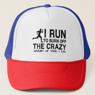 Funny Run To Burn Off Crazy Amount of Food (man) Trucker Hat