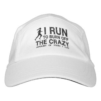 Funny Run To Burn Off Crazy Amount of Food (woman) Headsweats Hat