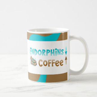 Funny Runners Coffee and Endorphins Classic White Coffee Mug