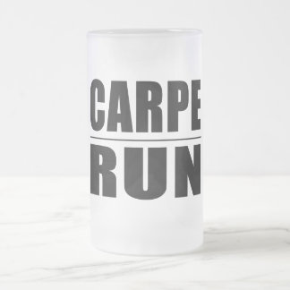Funny Runners Quotes Jokes : Carpe Run Frosted Glass Beer Mug