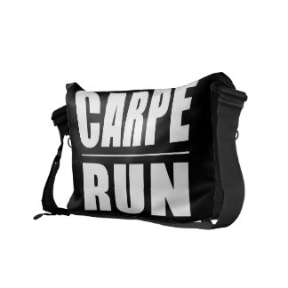 Funny Runners Quotes Jokes : Carpe Run Courier Bag