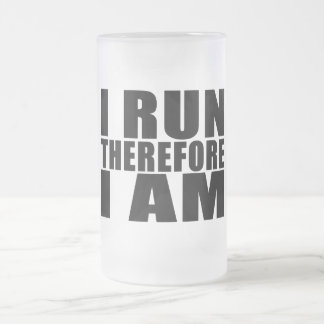 Funny Runners Quotes Jokes I Run Therefore I am Coffee Mugs