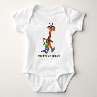 Funny running baby bodysuit