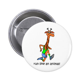 Funny running 2 inch round button