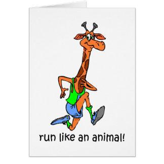 Funny running greeting card