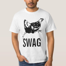 Funny Running Chicken swag shirt