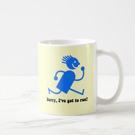 Funny running coffee mug