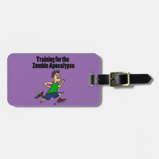 Funny Running Dude Cartoon Luggage Tag