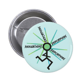 Funny Running Endorphins Button