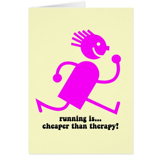 Funny running greeting cards
