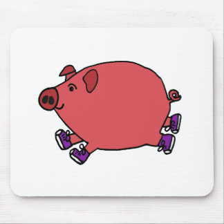 Funny Running Hog Wild Art Mouse Pads