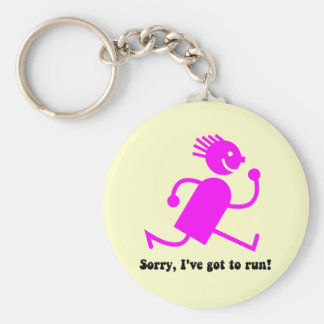 Funny running key chain