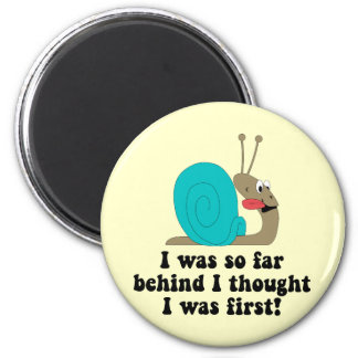 Funny running 2 inch round magnet