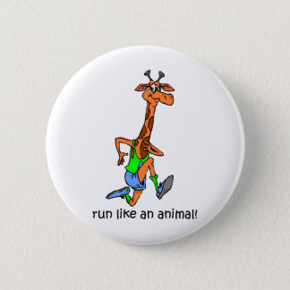 Funny running pinback button