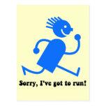 Funny running postcard