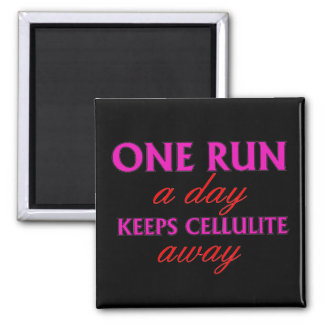 Funny Running Quote - Motivational Fridge Magnets