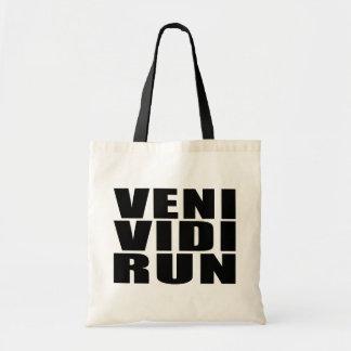 Funny Running Quotes Jokes : Veni Vidi Run Budget Tote Bag