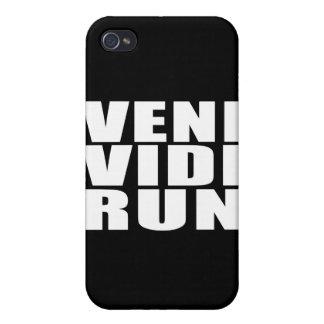 Funny Running Quotes Jokes : Veni Vidi Run iPhone 4 Case