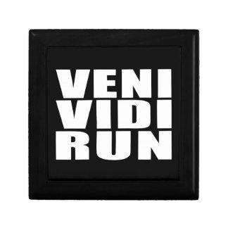 Funny Running Quotes Jokes : Veni Vidi Run Jewelry Box