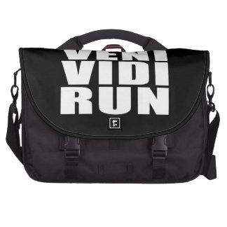 Funny Running Quotes Jokes : Veni Vidi Run Commuter Bags