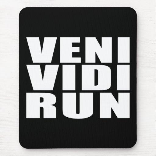 Funny Running Quotes Jokes : Veni Vidi Run Mousepad