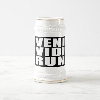 Funny Running Quotes Jokes : Veni Vidi Run Coffee Mugs