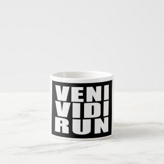 Funny Running Quotes Jokes : Veni Vidi Run Espresso Mugs