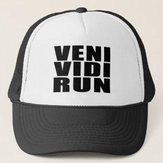 Funny Running Quotes Jokes : Veni Vidi Run Trucker Hat