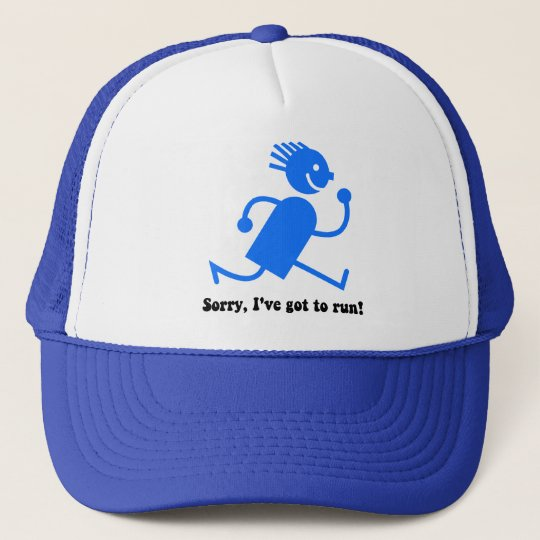 Funny running trucker hat