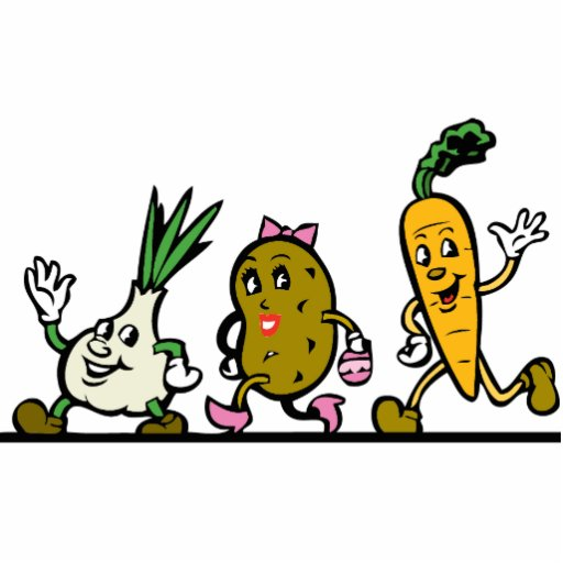 Funny Running Vegetables Photo Cutouts Zazzle