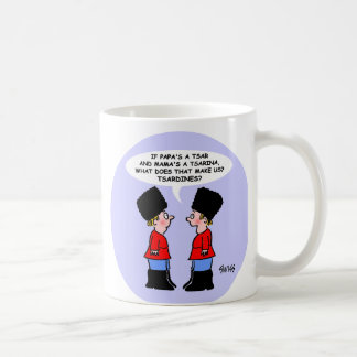 Funny Russian Tsars Kids Cartoon For History Major Coffee Mug