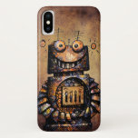 Funny Rusty Steampunk Robot iPhone X Case