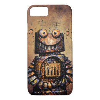 Funny Rusty Steampunk Robot iPhone 8/7 Case