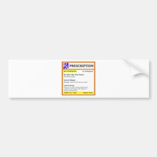 Funny rx prescription bumper sticker