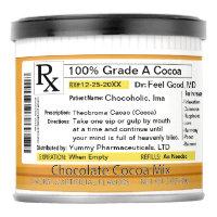 Funny RX Prescription Medicine Cocoa Hot Chocolate Drink Mix
