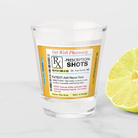 Funny RX Prescription Shot Glass