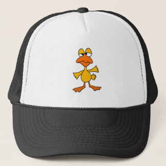 Funny Sad Duck Cartoon Trucker Hat