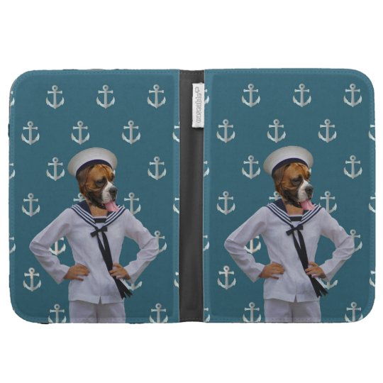 Funny sailor dog character kindle 3 case
